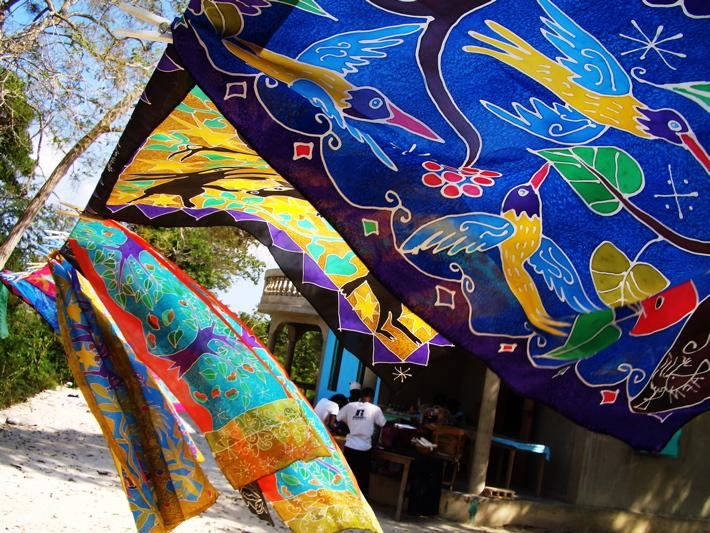 Atis Fanm - hand painted silk scarves