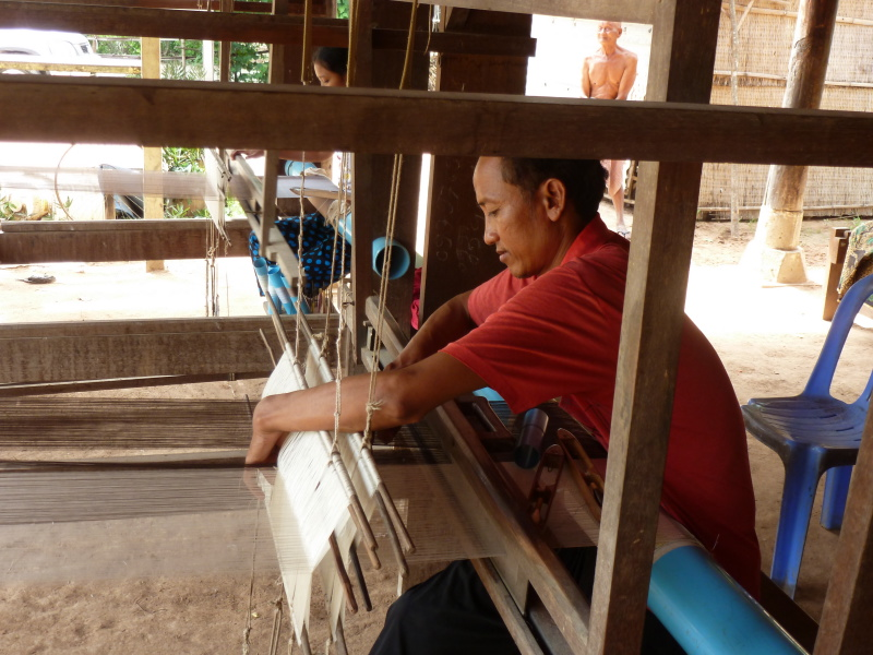 Pom is master weaver in Cambodia