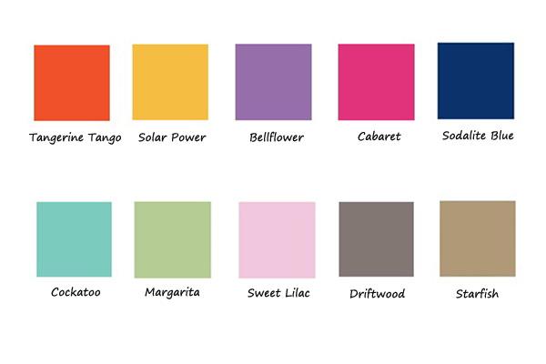 Zijden sjaal als accessoire  zomerkleuren 2012   Counting Flowers