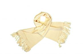 Katoenen sjaal van Karen in beige