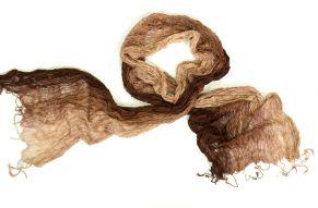 Zijden sjaal van Vinita in bruin