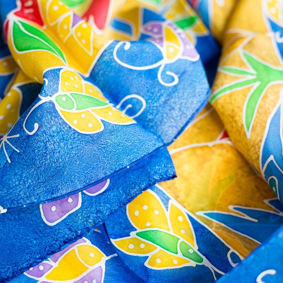 Silk scarf Atis Fanm butterfly