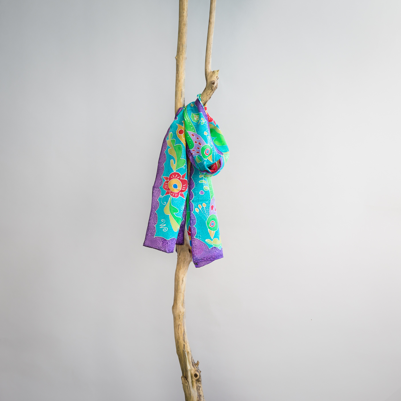 Zijden sjaal van Atis Fanm pauw