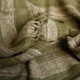 Sjaal van wilde zijde in groen