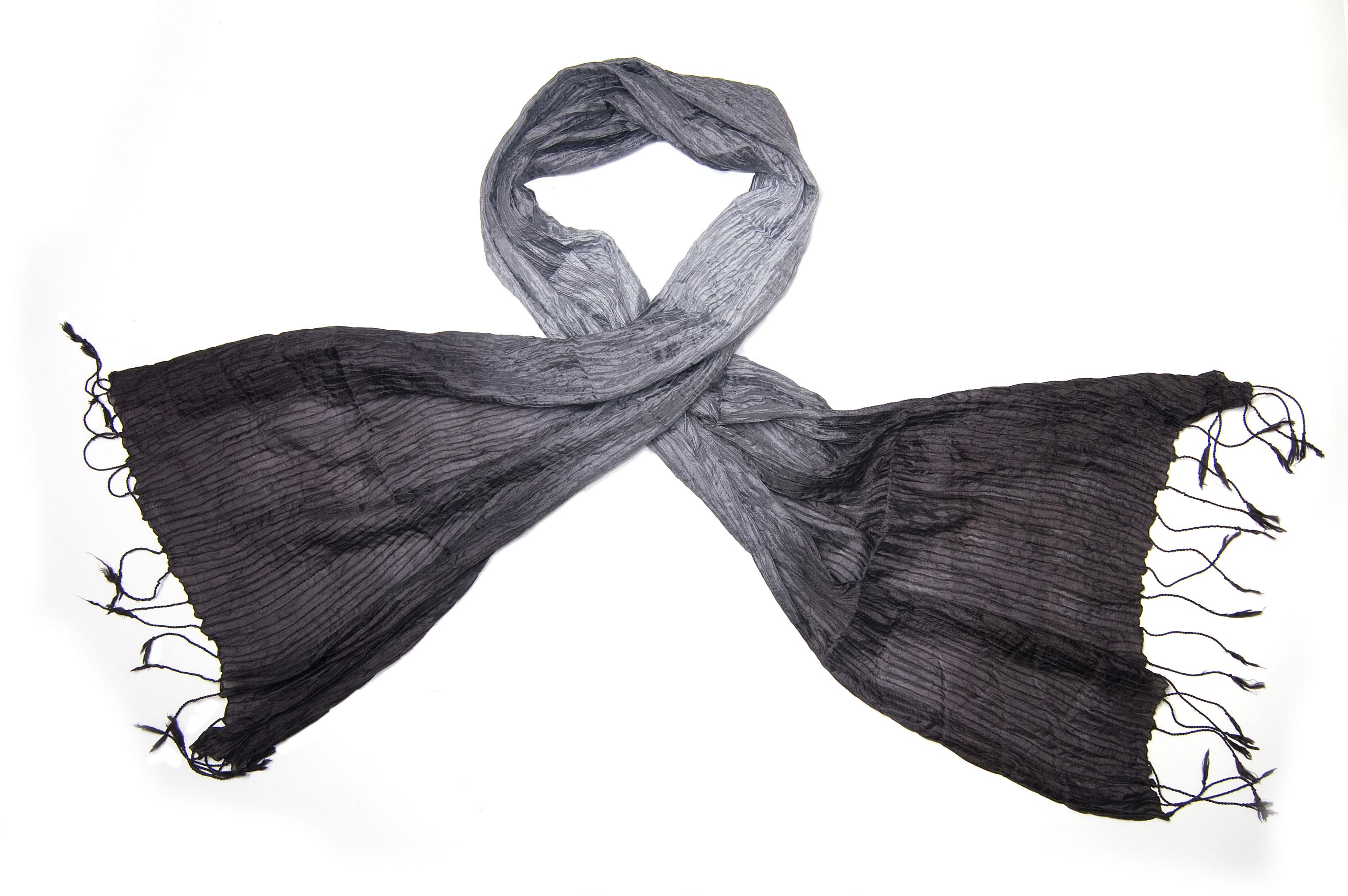 Silk scarf Vinita smokey