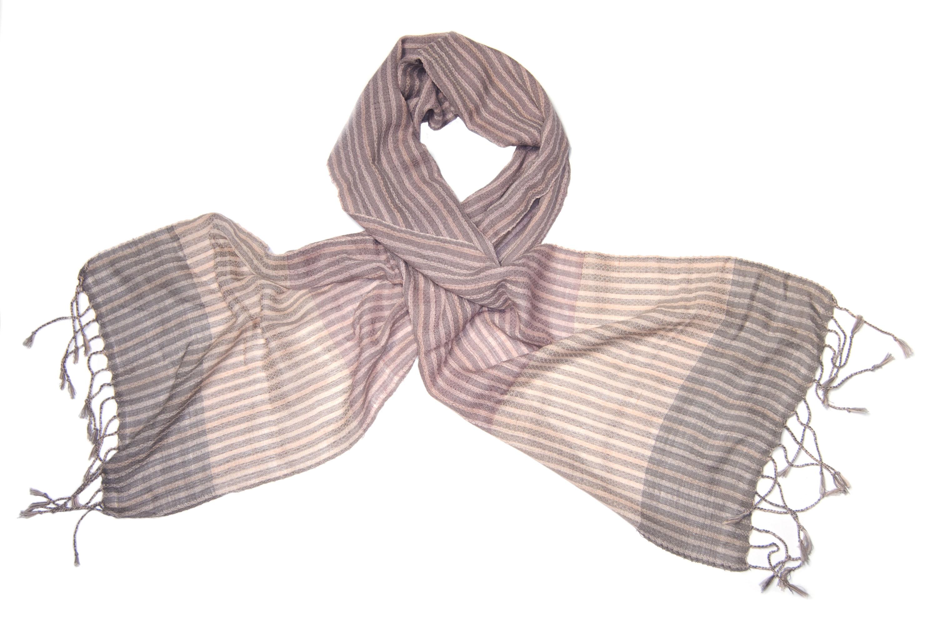 Cotton scarf morganite