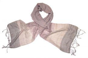 Katoenen sjaal in natuur roze