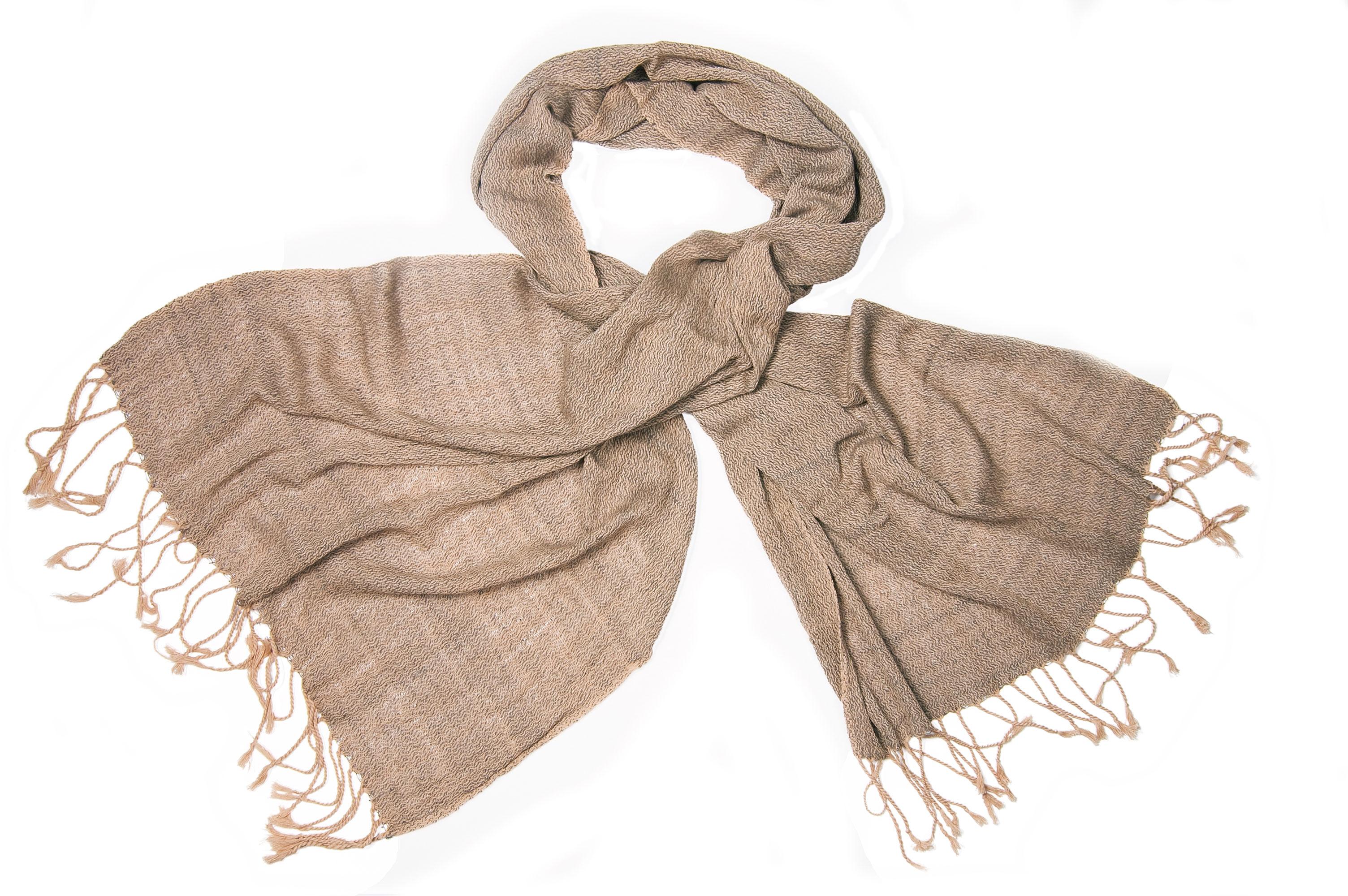 Katoenen sjaal in natuur mix