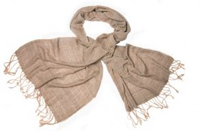 Naturally dyed cotton scarf salix