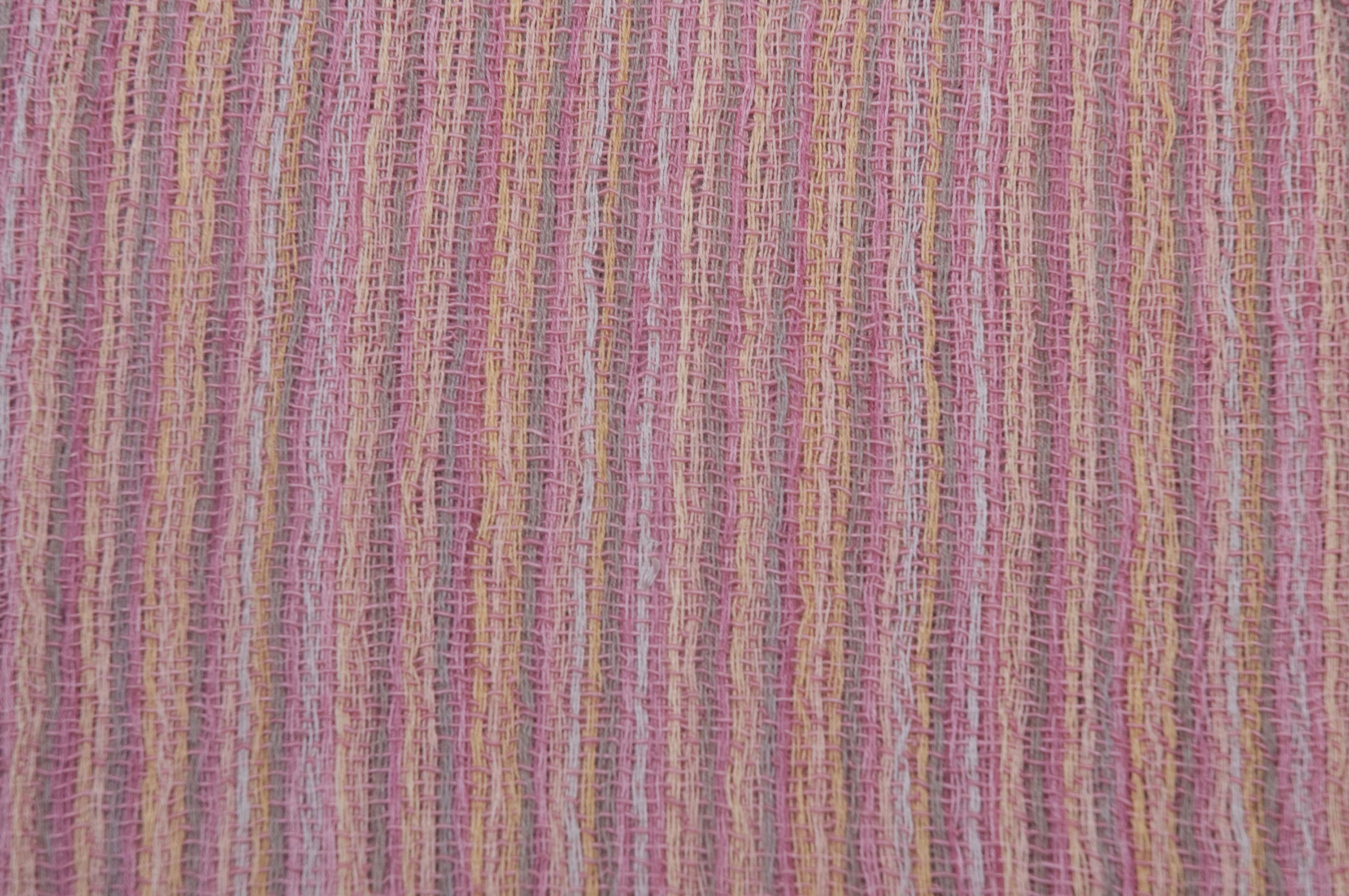 Katoenen sjaal met roze streep