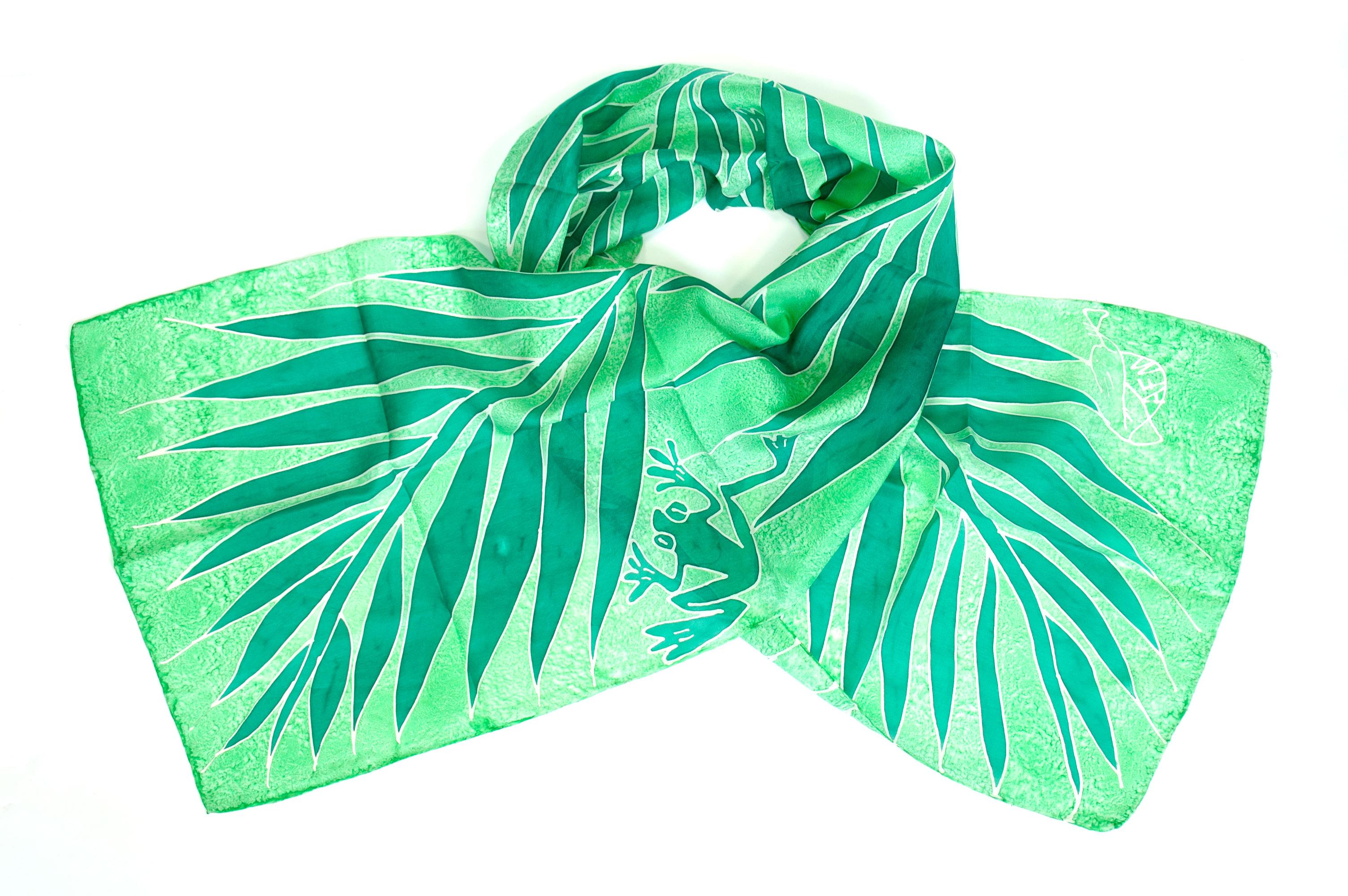 Silk scarf Atis Fanm frog