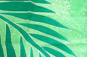 Silk scarf Atis Fanm frog - close up