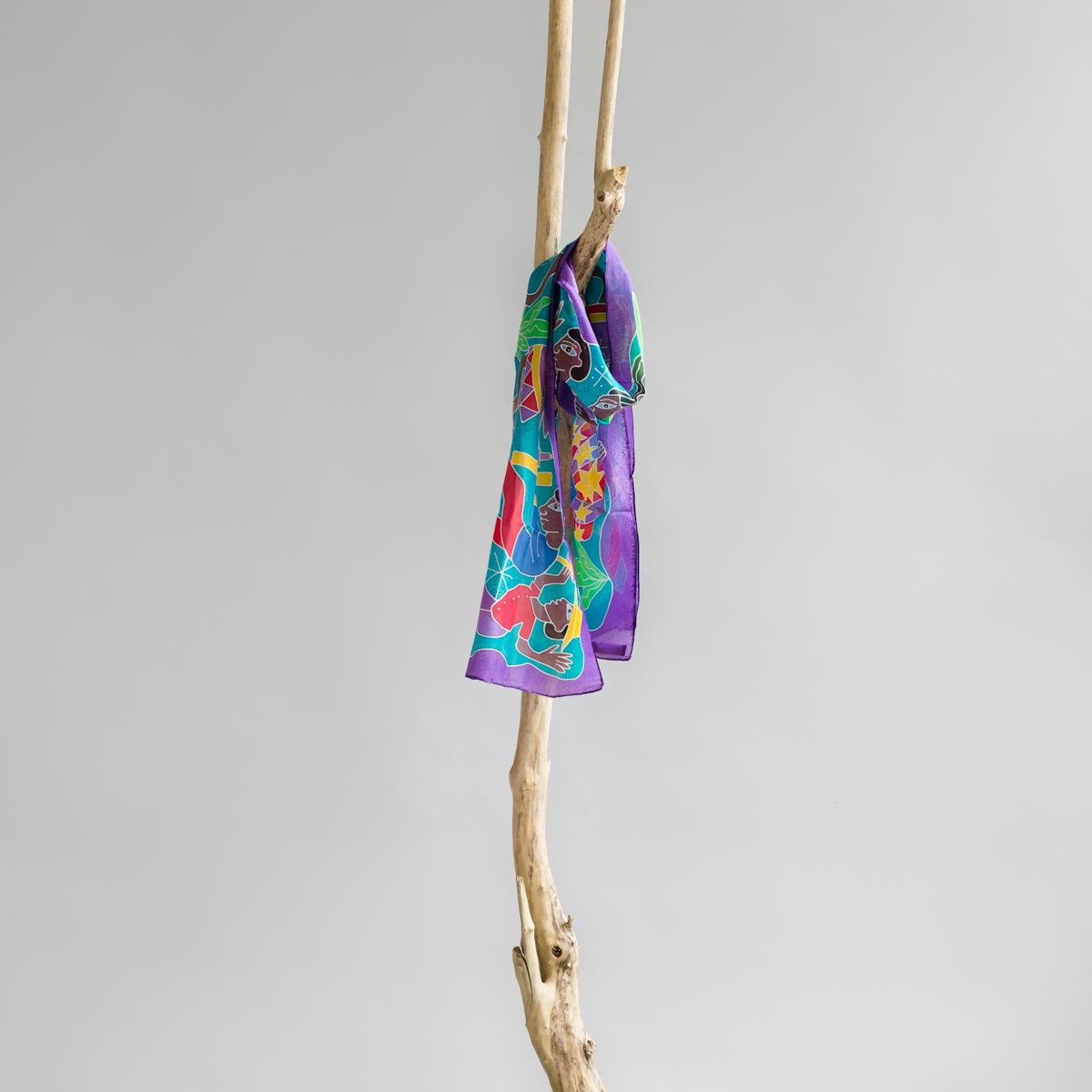 Zijden sjaal van Atis Fanm