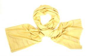 Pashmina sjaal in zacht geel