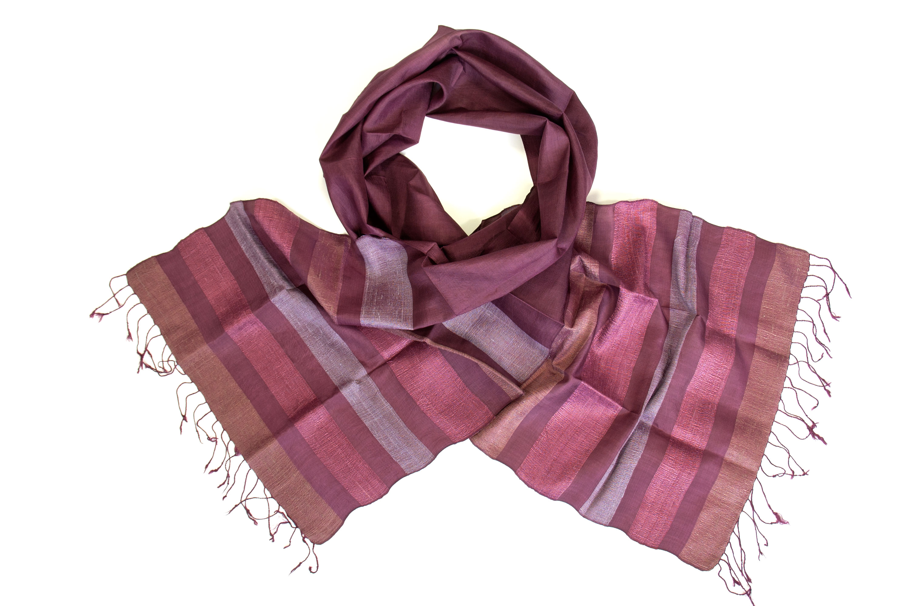 Silk fair trade scarf vineyard