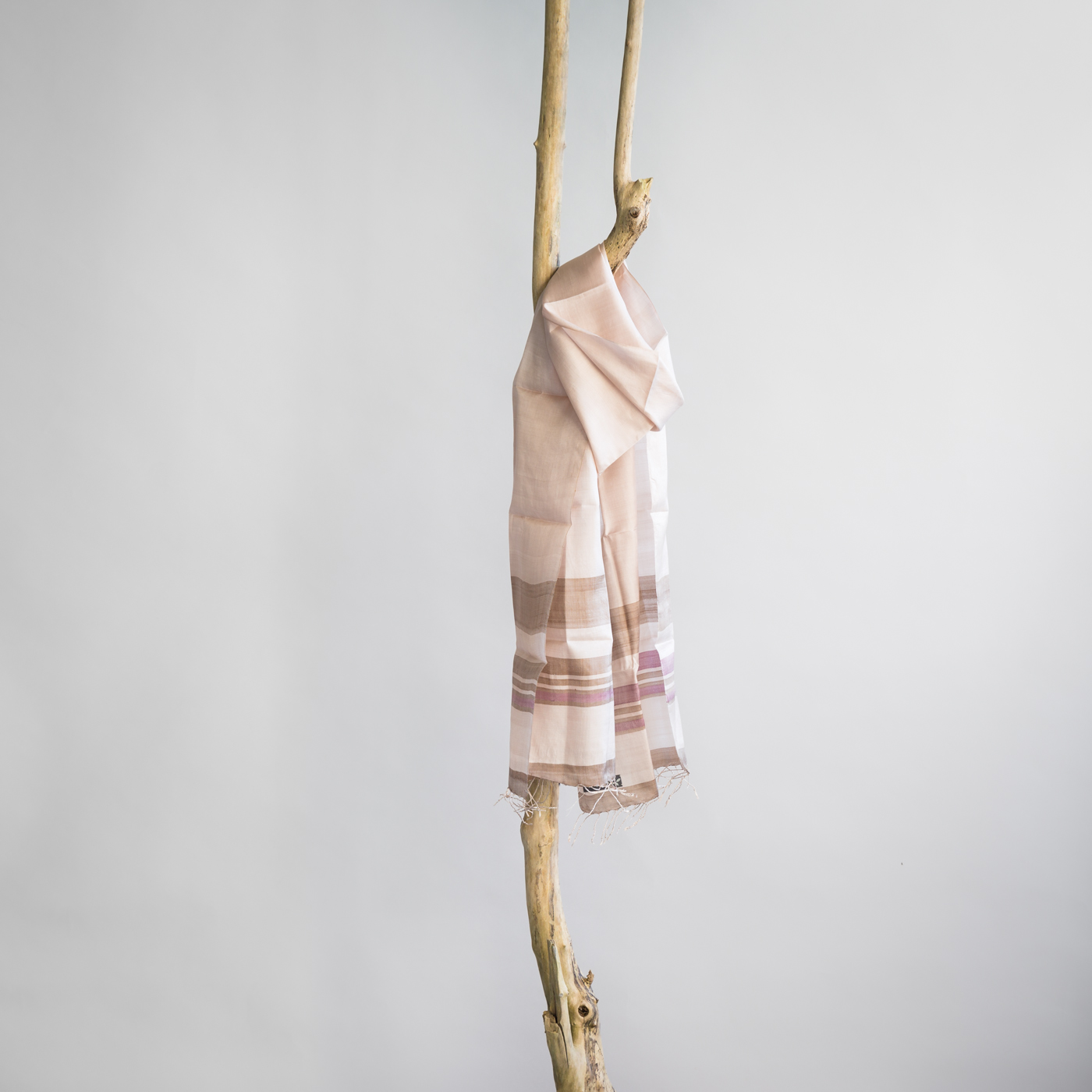 Silk fair trade scarf purify