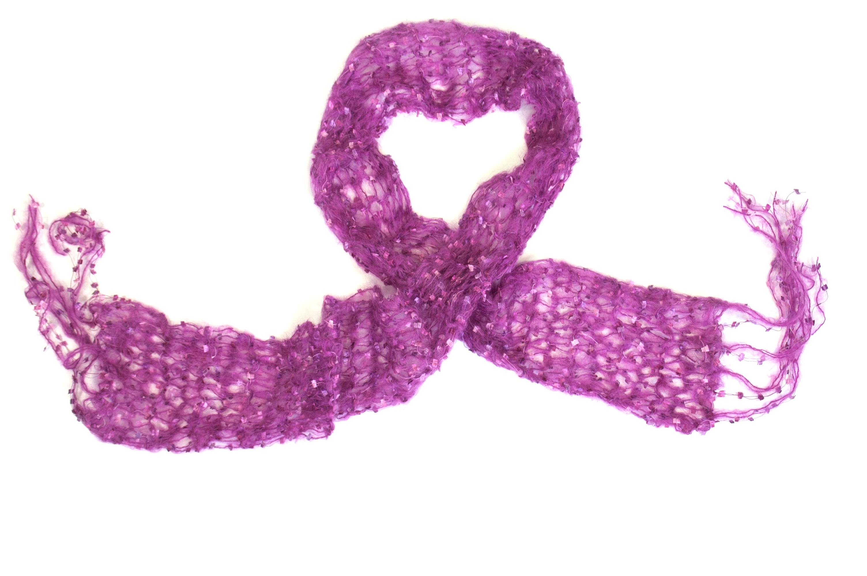 Mohair sjaal van Snug in roze