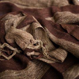 Sjaal van wilde zijde in bruin-beige