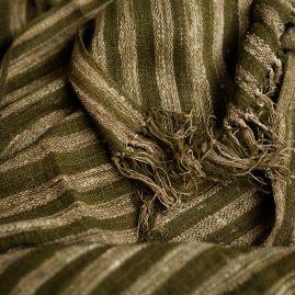 Sjaal van wilde zijde smalle streep