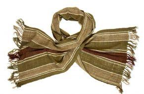 Wild silk scarf forrest