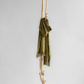 Wild silk shawl sage