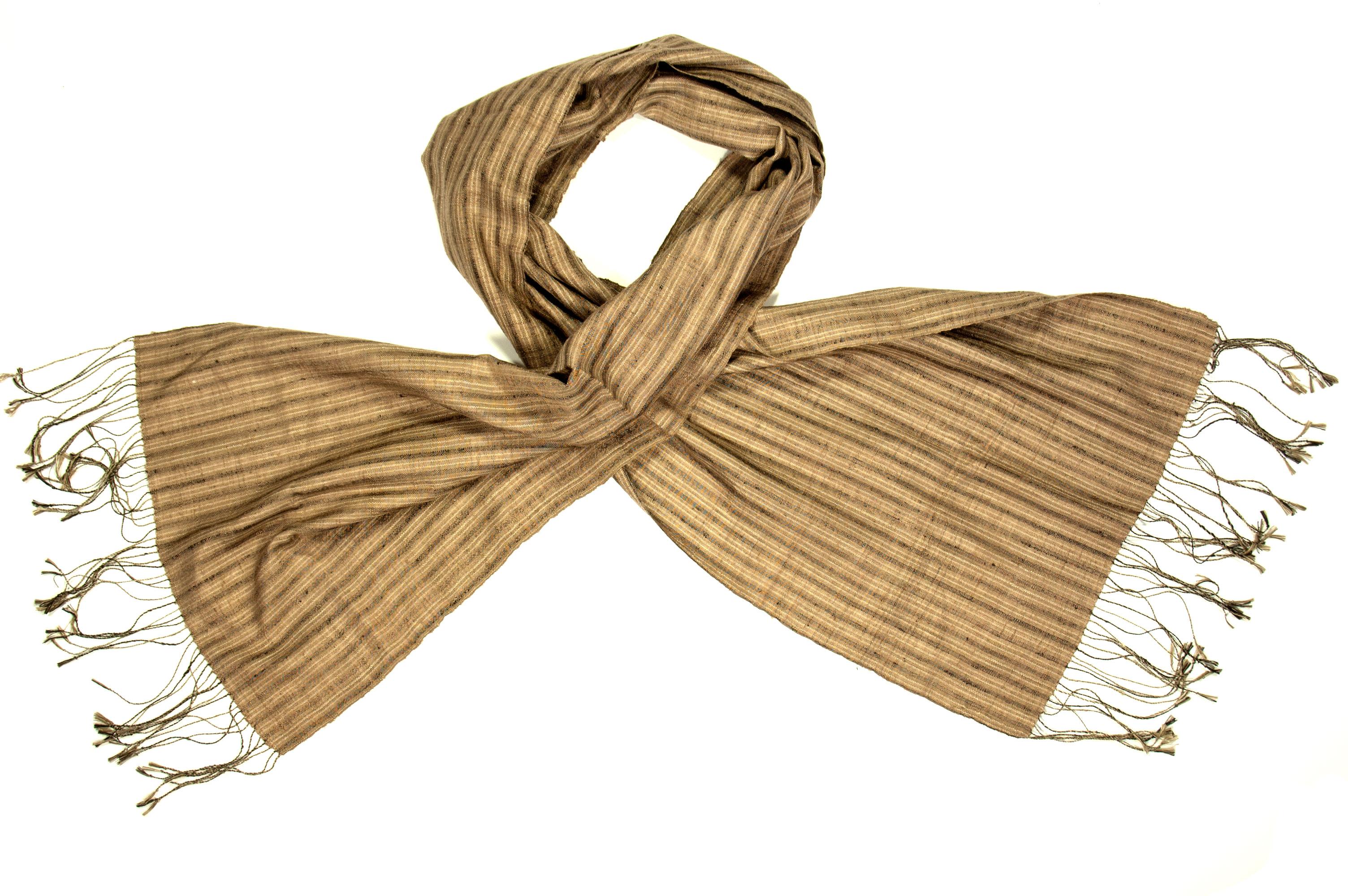 Zijden Fair Trade sjaal Stripes