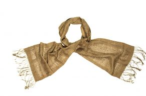 Naturally dyed silk scarf ngaio