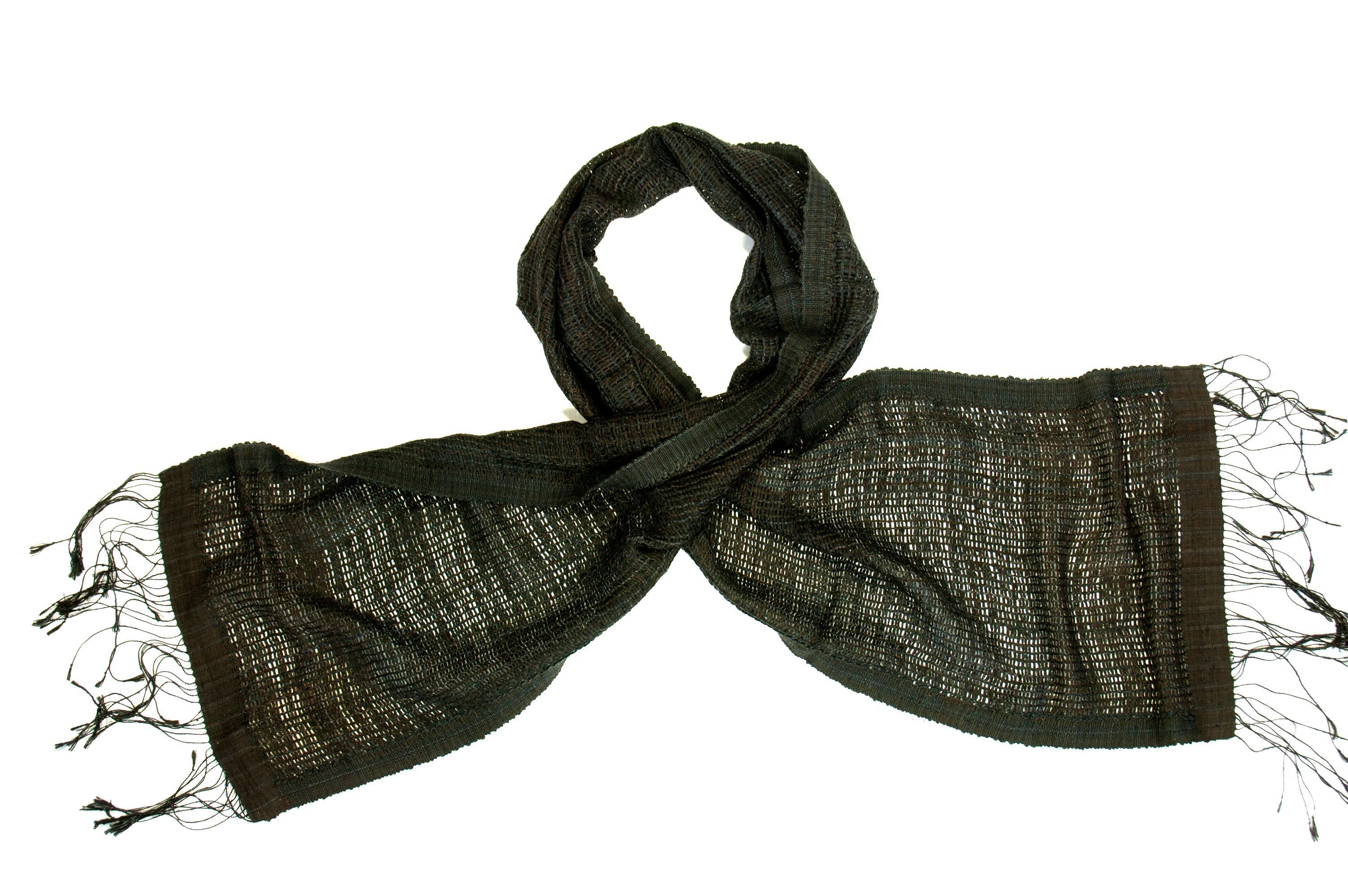 Sjaal van organische zijde Indigo