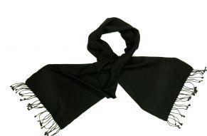 Sjaal van cashmere in zwart