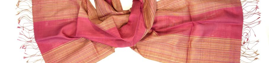 Naturally dyed silk scarf lac