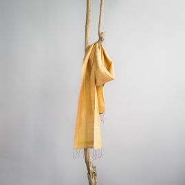 Silk fair trade scarf barley