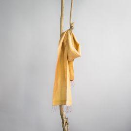 Zijden fairtrade sjaal tarwe