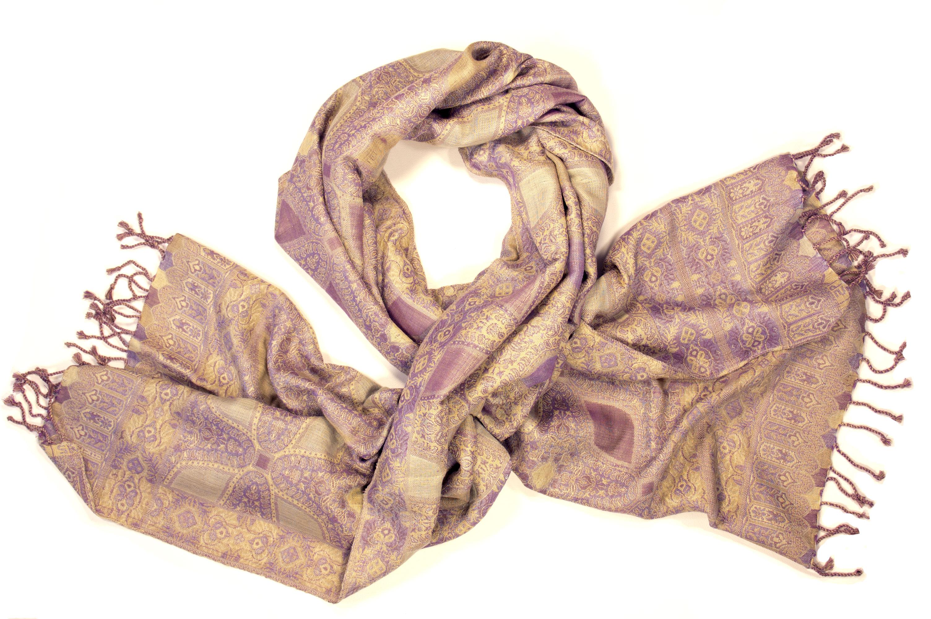 Fairtrade sjaal in pink-beige
