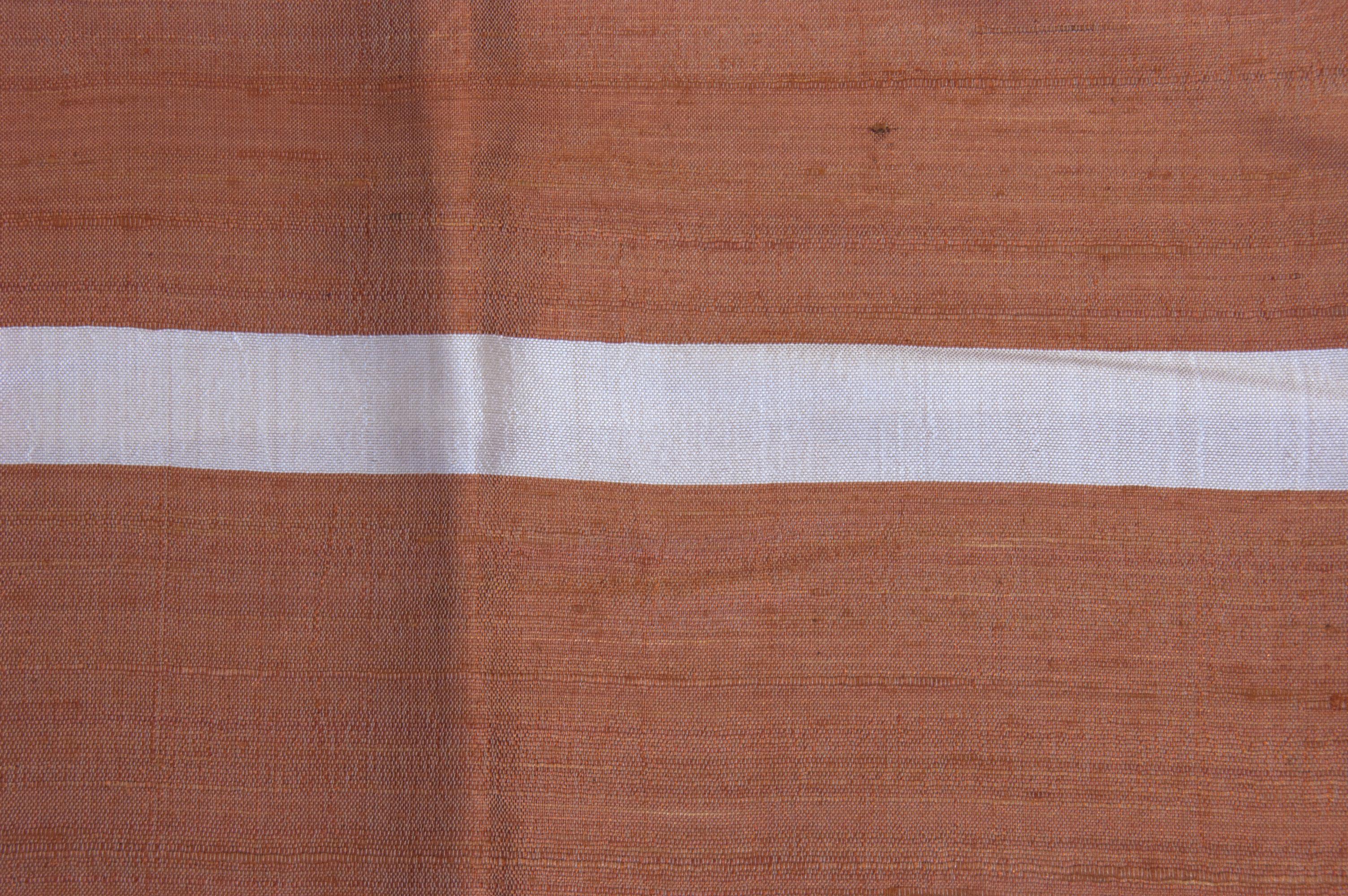 Zijden sjaal creme oranje