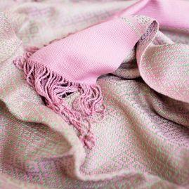 Katoenen Fair Trade sjaal in roze