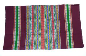Katoenen sarong bordeaux