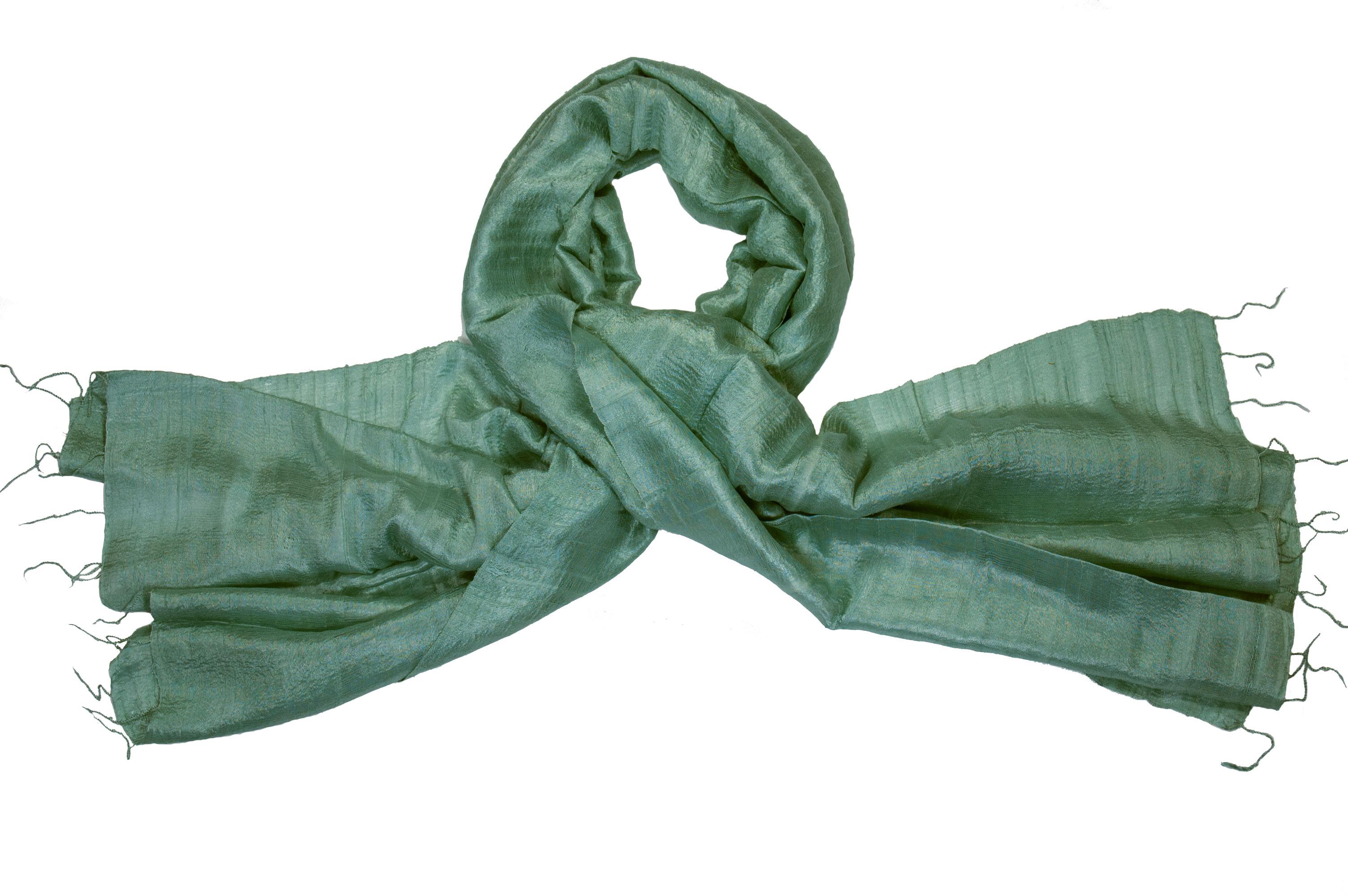 Zijden sjaal Vinita smaragd