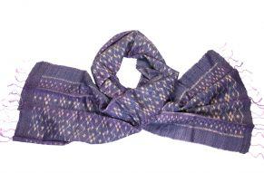 Silk scarf ikat amethyst