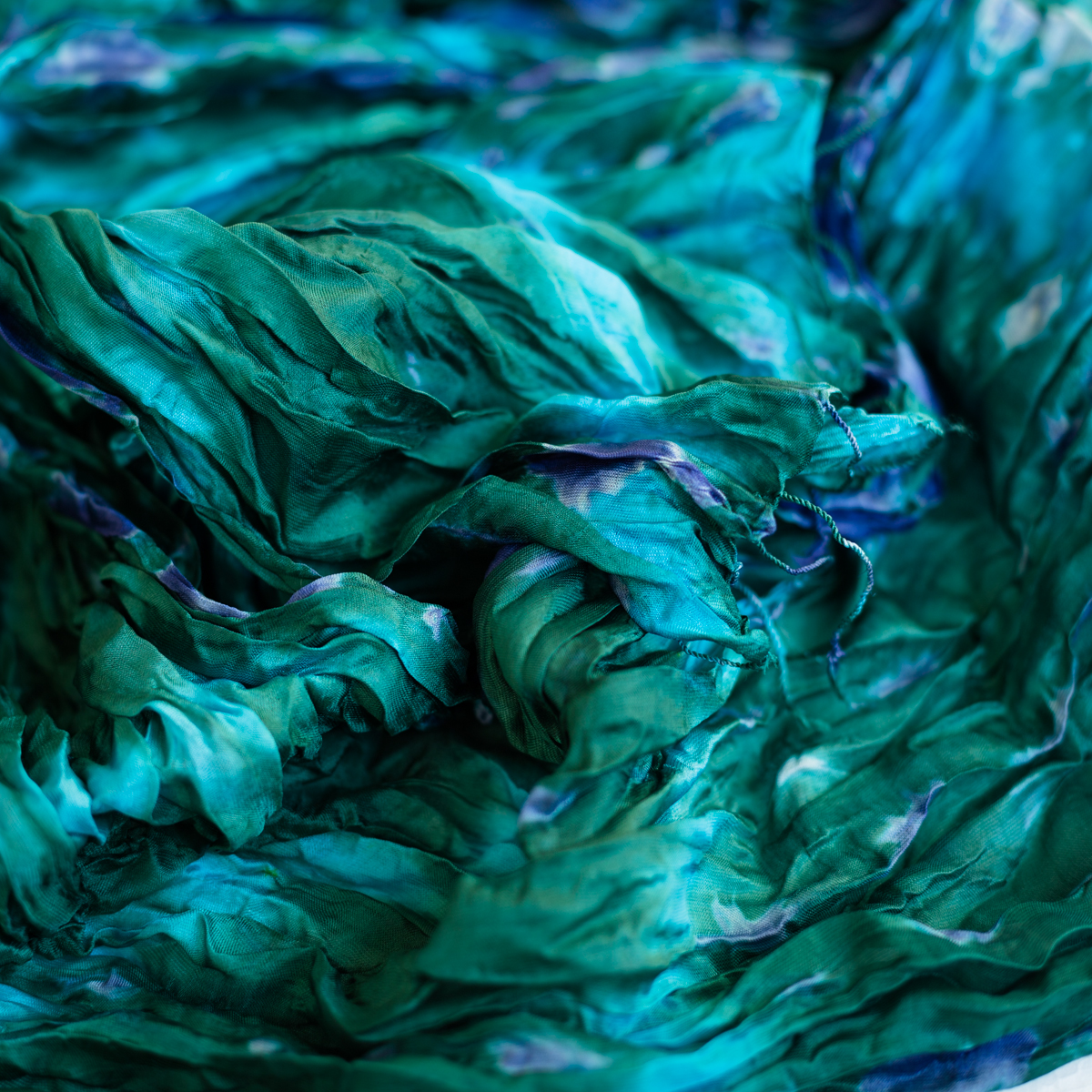 Zijden sjaal Vinita pauw