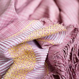 Katoenen sjaal oud roze
