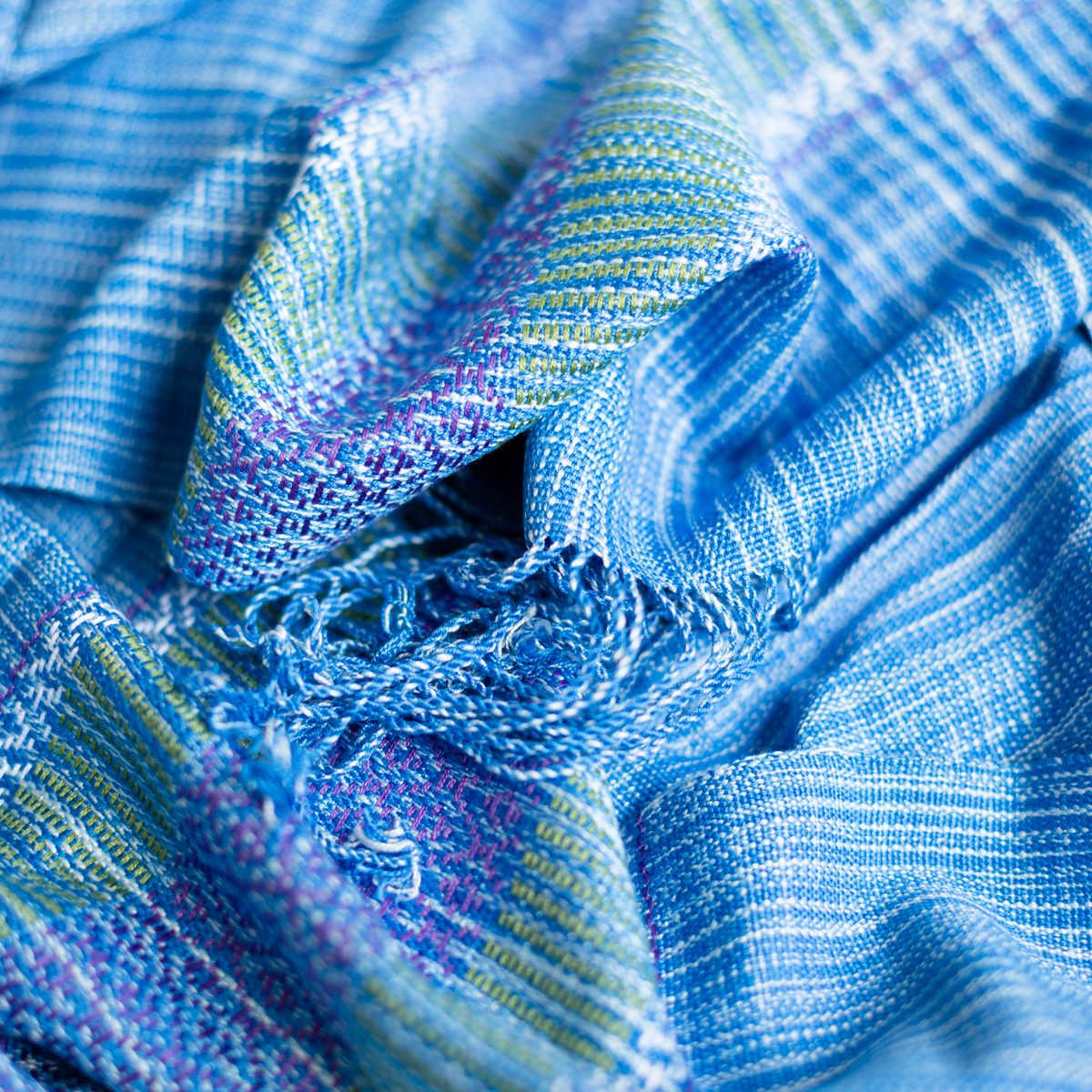 Cotton scarf sky blue
