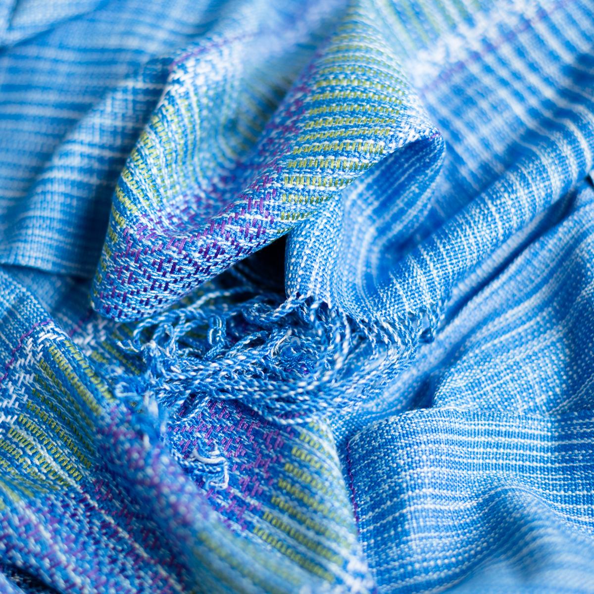 Katoenen sjaal koningsblauw