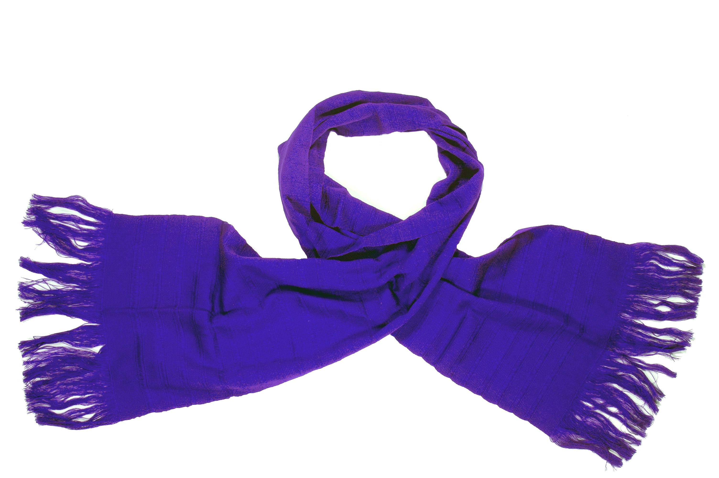 Katoenen sjaal viooltjes paars