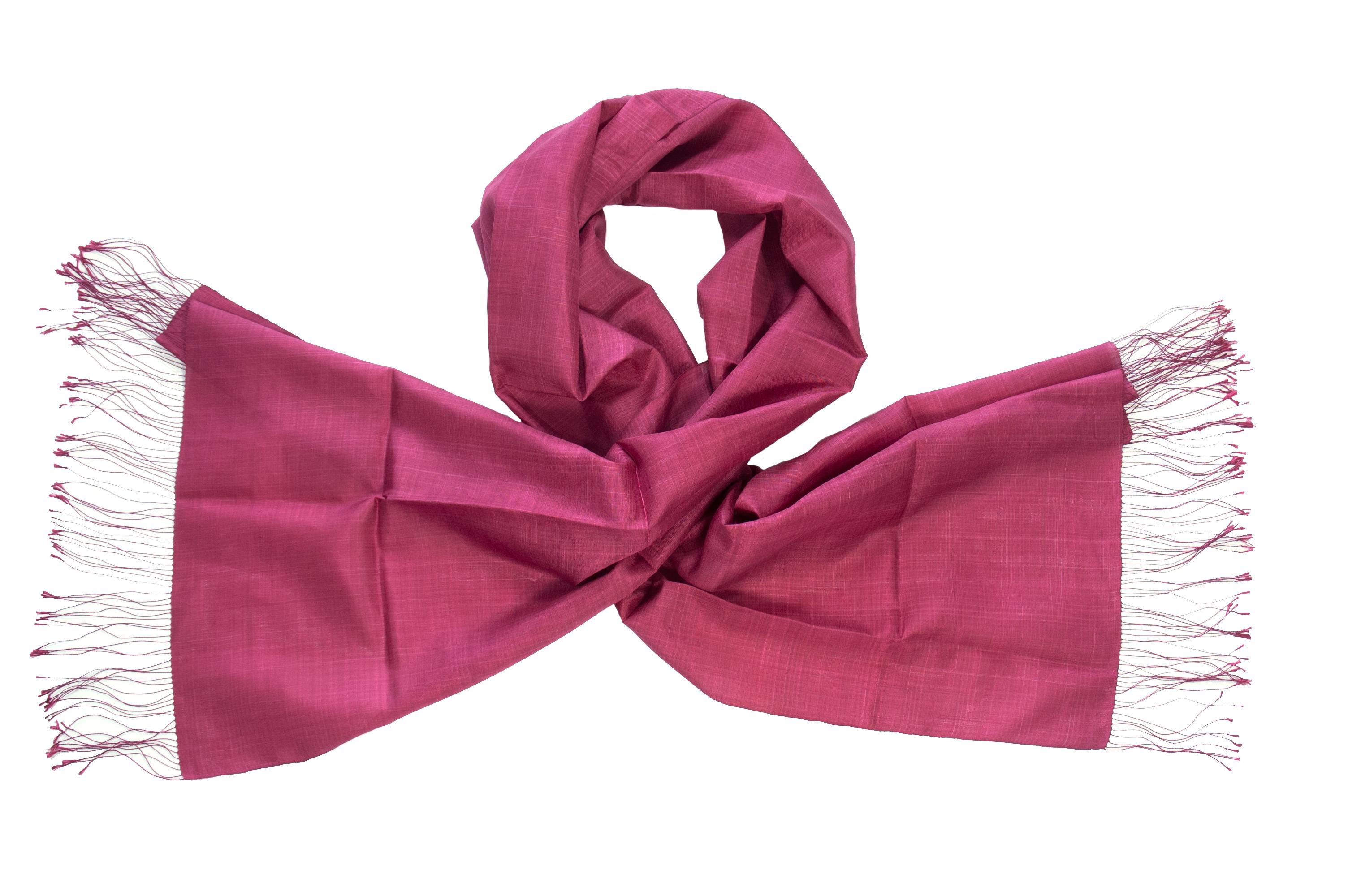 Organisch zijden sjaal framboos
