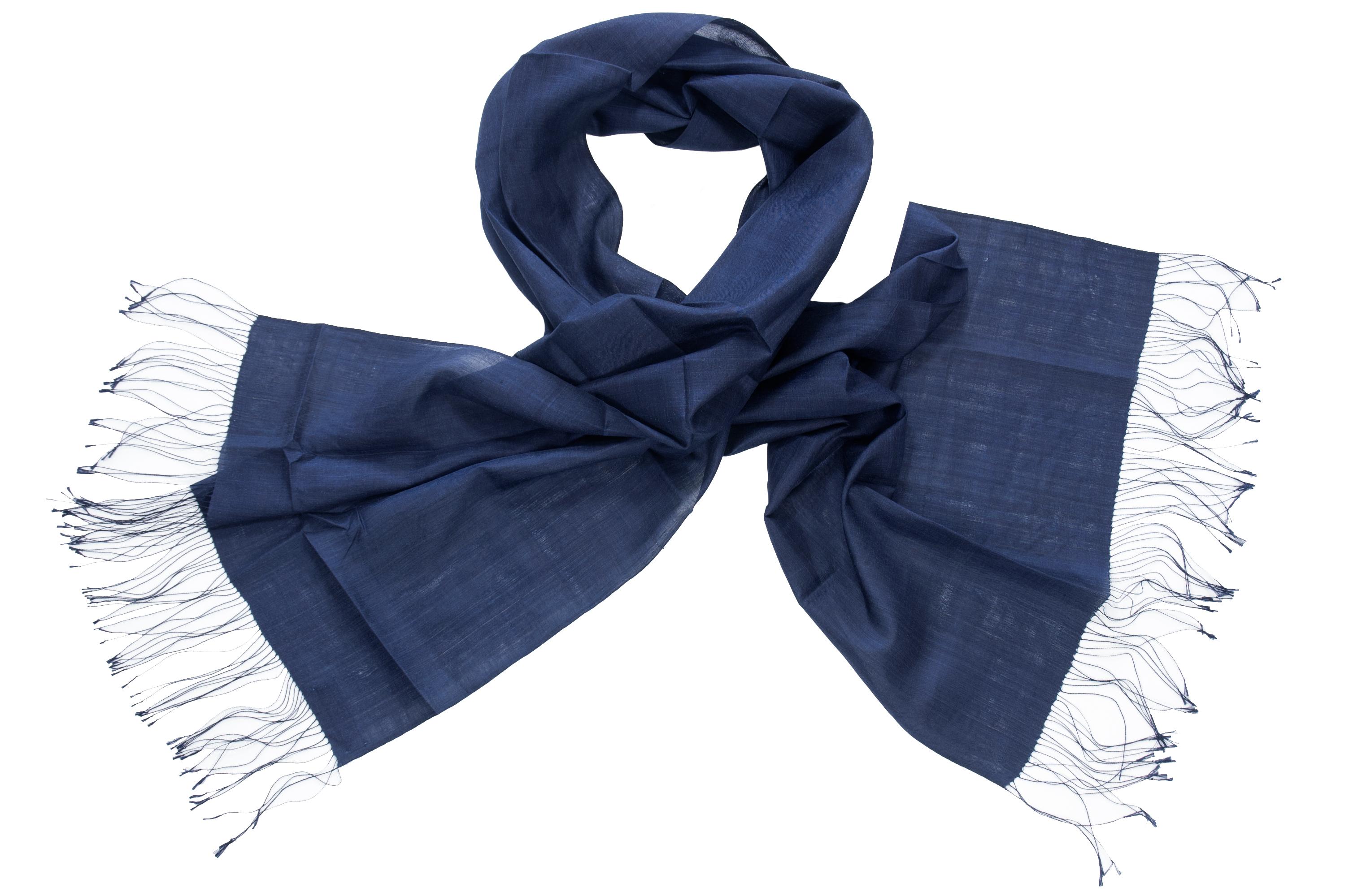 Organisch zijden sjaal middernacht