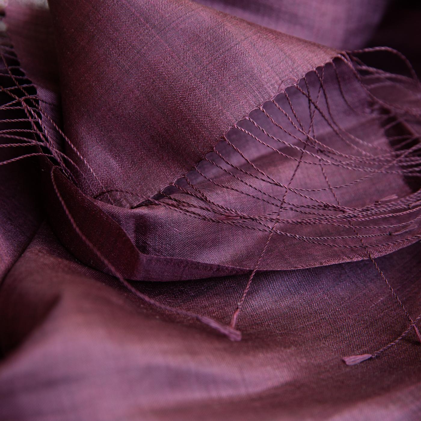 Organic silk shawl burgundy