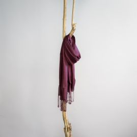Organic silk shawl burgundy