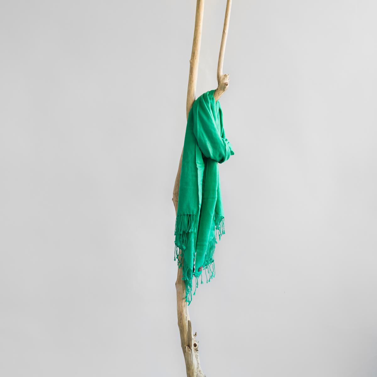 Pashmina shawl emerald green