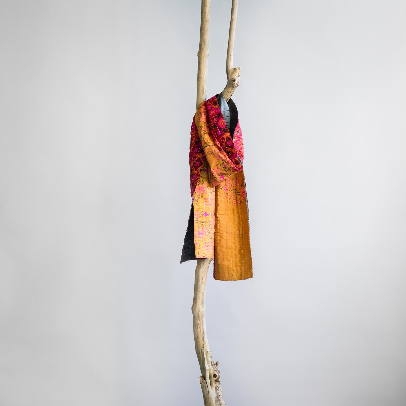 Zijden sjaal kantha fantasy