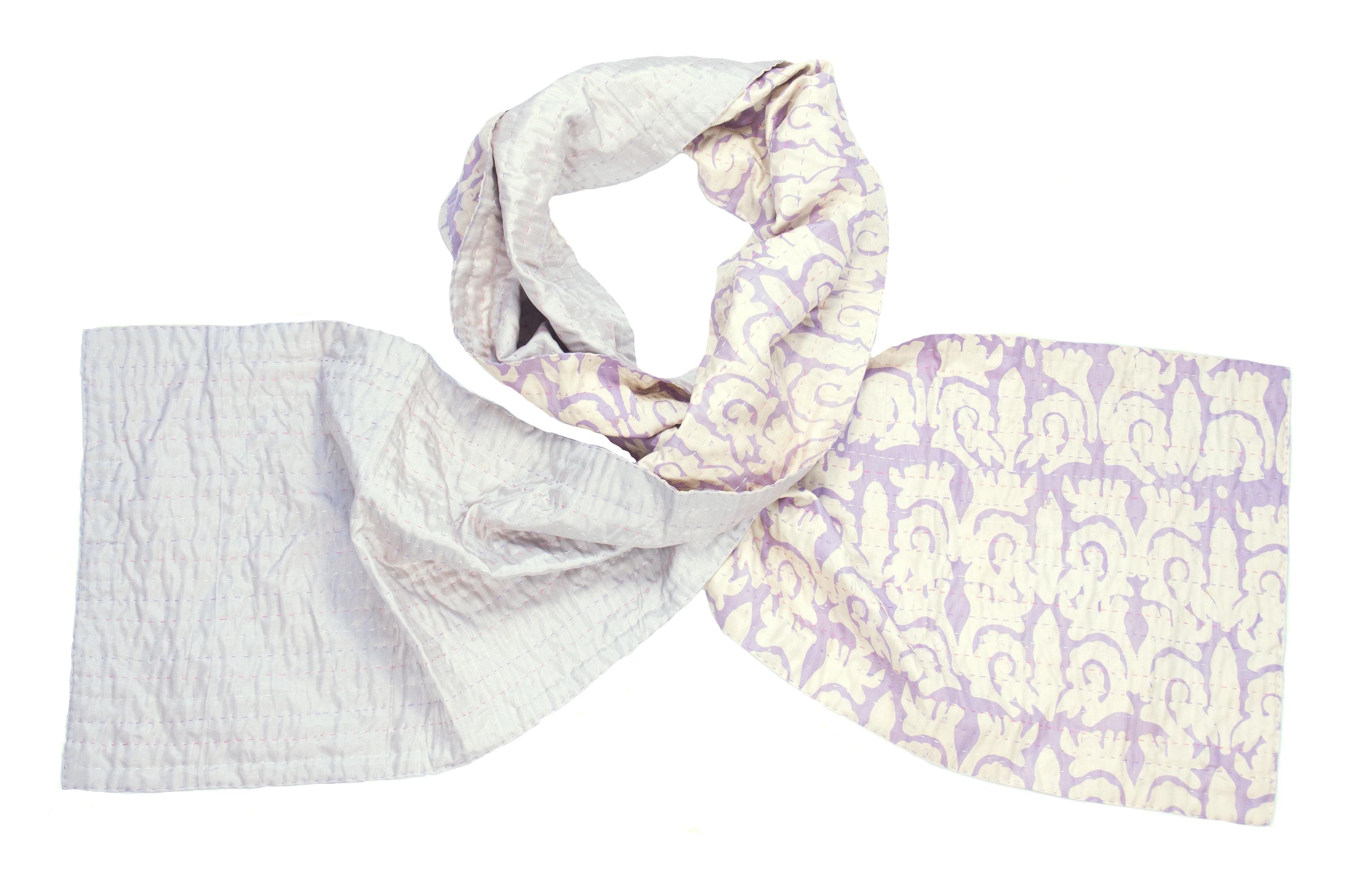 Zijden sjaal kantha barok